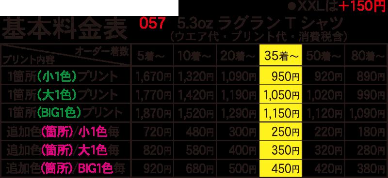 5.3オンスラグランTシャツ